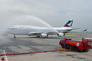 The last flight for Cathay's B747, CX8747 perform the charity flight a...
