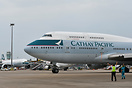 The last flight for Cathay's B747,operating CX8747
