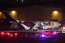 The FAA reported the left main gear collapsed during the landing roll ...