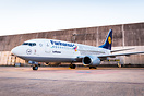 "The names of hundred of fans were put on this Boeing 737 in special ""F..."