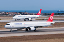 Old livery on aircraft in the foreground, new one on A330 TC-LND in th...