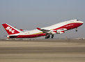 Global Super Tanker Services' new Boeing 747-400 operating its first e...