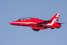 Red Arrow XX188 doing some touch and go at at RAF Linton on Ouse