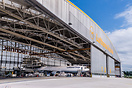 In the maintenance hangar of Lufthansa Technik Maintenance Internation...