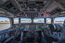 Flight deck of the almost 70 year old DC-6 courtesy of Everts Air Carg...