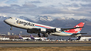 Beautiful view as a Cargolux B-748 departs Anchorage with the Alaskan ...