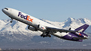 The Chugach range makes an amazing backdrop for this Fedex MD-11 as sh...