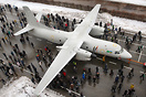 Brand new Antonov An-132D during roll-out ceremony