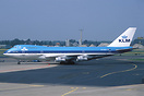 "Old classic KLM 747 named ""The Nile"""