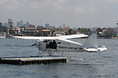 A Sydney Harbour Seaplanes DHC-2 sits at rest awaiting its next pleasu...
