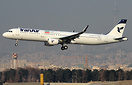First Commercial Flight of Iran Air Airbus A321-200