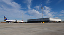 Ryanair as the first visitor @ Delta apron in front of the new cargo t...