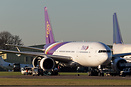The second Thai Airways 777-200 to arrive at Kemble for parting out an...