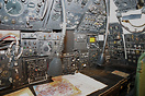 The navigators station on board Avro Vulcan XM602, which is displayed ...
