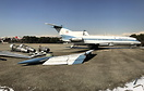 Private B727 of Shah Mohammad Reza Pahlavi, in the foreground the Spar...