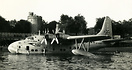 BOAC Short Solent on the Thames at Windsor.