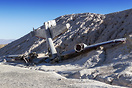 The plane wreck is a movie prop located near Nelson, Nevada, used in t...