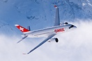 Swiss CS100 in action over St. Moritz during the Ski World Championshi...