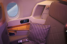 Business class seating on the Singapore Airlines Airbus A350-900.