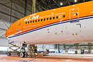 KLM's special 'Oranje' livery on the Boeing 777-300ER (PH-BVA)