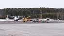 MChS ramp with two Mil Mi-8 and one Mil Mi-26T reg. RF-31123 helicopte...