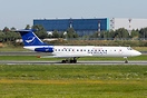 Syrian Arab Airlines Tupolev Tu-134B-3 on take-off roll at Vnukovo air...