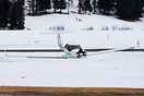 DA-40 landing gear collapse after hard landing