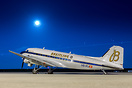 HB-IRJ nightstopping in Athens, its second stop on its world tour.