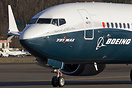 Boeing's 737-8 Max first test airplane which will evantually go to Sou...