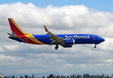 Southwest first 737-8 Max on a touch and go test mission at Paine fiel...