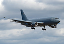 USAF 5th KC-46A Pegasus returning from a test flight- bears the tempor...
