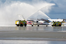 FlyViking is a brand new Norwegian airline on its first day of service...