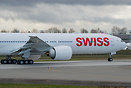 Swiss Air's latest 777 ready to take off on a customer test flight