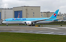 Korean Air's second and latest 787-9 dreamliner on her first flight