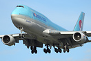 Korean Air has started to use the Boeing 747-8i airliner operating bet...