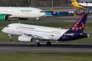 First Sukhoi Superjet 100 to wear the full livery of Brussels Airlines...