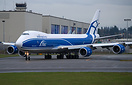 AirBridge Cargo's latest 747-8 freighter on her delivery flight from P...