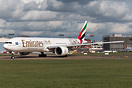 Emirates promotes today their HSV B777 in Hamburg.