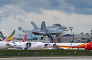 RAAF's latest F/A-18 Hornet practicing touch and go at Paine field- a ...