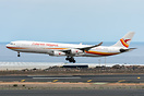 First visit of this A340 plane from Surinam Airways to Tenerife South ...