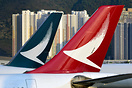 Cathay Pacific and Cathay Dragon tails