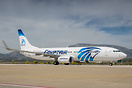 Latest delvery for Egyptair, sporting a special tail livery for the co...