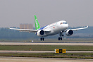 The maiden flight of C919.