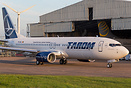 First Boeing 737-800 for Romanian Airline TAROM, seen here outside Air...
