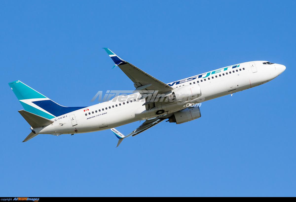 westjet boeing 737 800 c fkwj montreal trudeau airport view image ...
