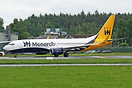 Monarch Airlines have recently acquired a Boeing 737-82R. G-ZBAV previ...