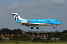 KLM's newly painted Fokker 70 which features a portrait of Anthony Fok...