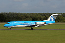 First visit of KLM's newly painted Fokker 70 which features a portrait...