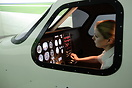 Student Pilot Catherine Cousins at the controls. Elite Evoltion S812 s...