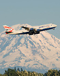 "BA's Oneworld livery ""Queen of the skies"" climbs up on departure with ..."